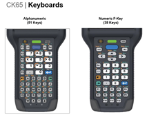 Honeywell CK65 Keyboard options